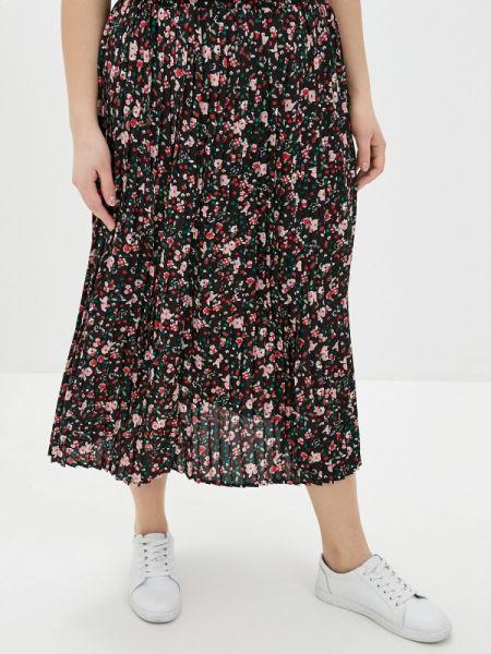 Платье плиссированное черное Ulla Popken