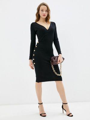 Черное платье с запахом Tantra