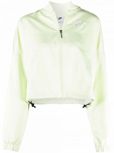 Бомбер атласная - зеленая Nike