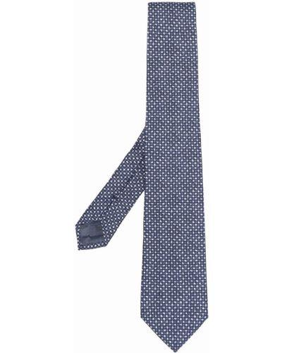 Синий шелковый галстук Emporio Armani