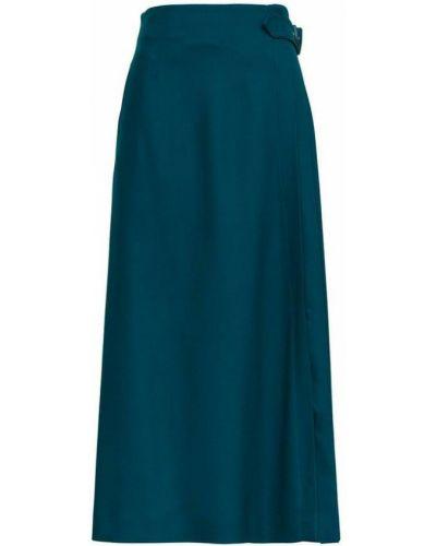 Niebieska długa spódnica Alberta Ferretti