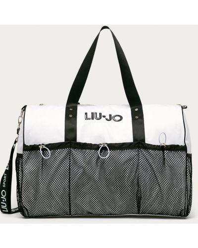 Biała torba podróżna z printem Liu Jo