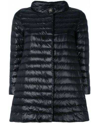 Стеганое пальто длинное с воротником-стойкой Herno