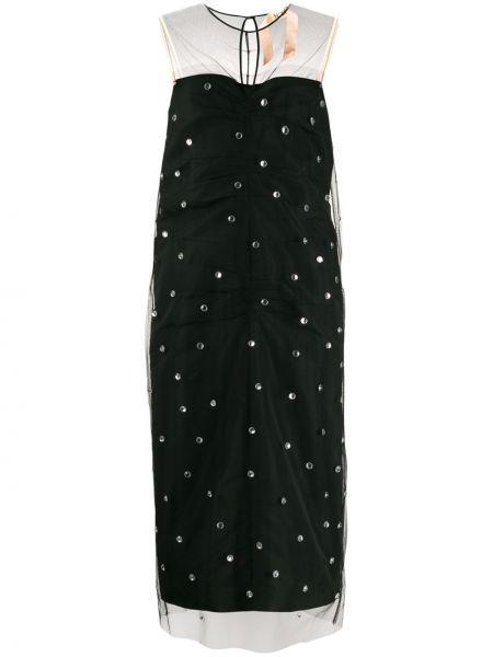Платье из фатина - черное N°21