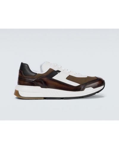 Кожаные кроссовки - белые Berluti