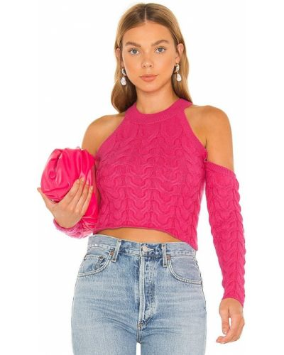 Różowy sweter elegancki Majorelle