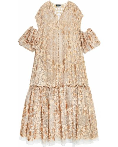 Шелковое платье - золотое Alena Akhmadullina