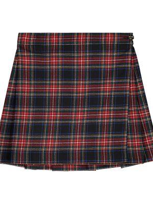Czarny wełniany spódnica rozciągać Dolce & Gabbana Kids