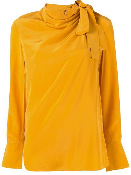 Блузка с длинным рукавом в полоску батник Alc