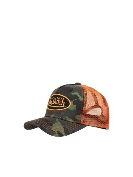 Zielony bawełna bawełna czapka baseballowa Von Dutch