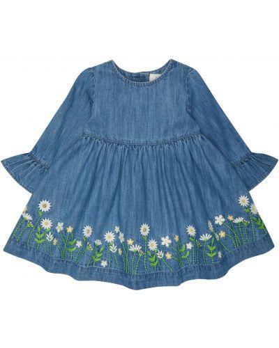 Платье джинсовое с вышивкой Mothercare