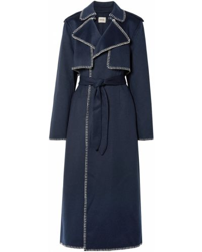 Пальто из альпаки с карманами на пуговицах Khaite