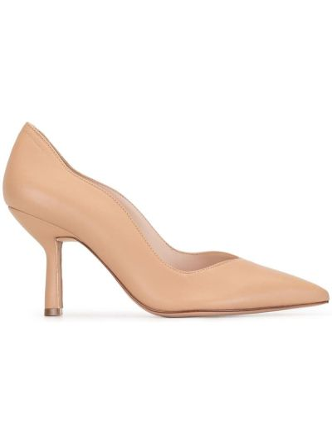 Кожаные розовые туфли-лодочки на каблуке Schutz