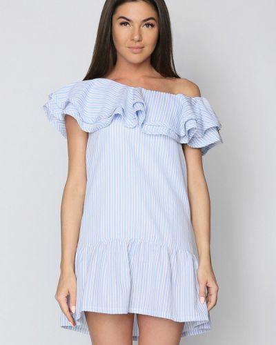 Голубое платье прямое Gepur