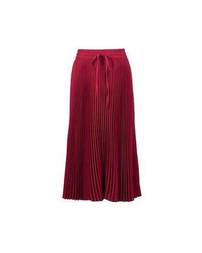 Плиссированная юбка красный Valentino Red