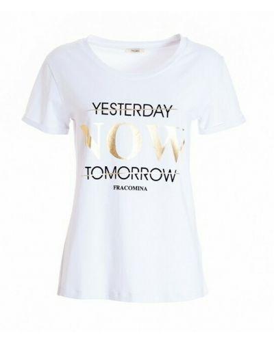 Biała t-shirt Fracomina