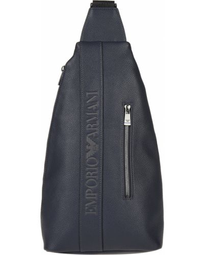 Рюкзак синий на молнии Emporio Armani