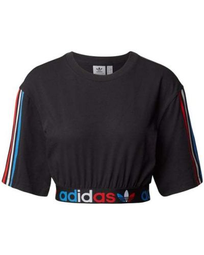 T-shirt bawełniana - czarna Adidas Originals
