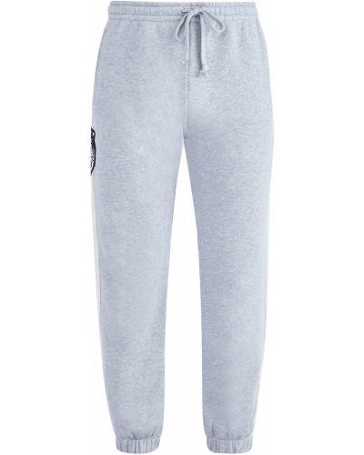 Спортивные брюки прямые в полоску Gucci