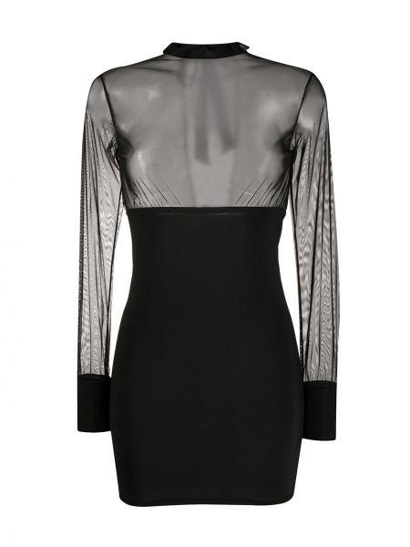 Платье макси длинное - черное Maison Close