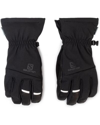 Skórzany rękawiczki czarny Salomon