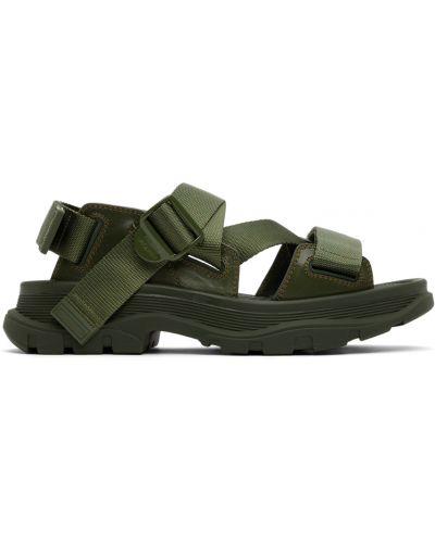 Sandały skórzane - khaki Alexander Mcqueen