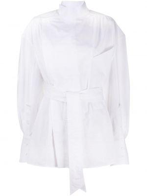 Асимметричная рубашка с воротником с карманами на пуговицах Mugler