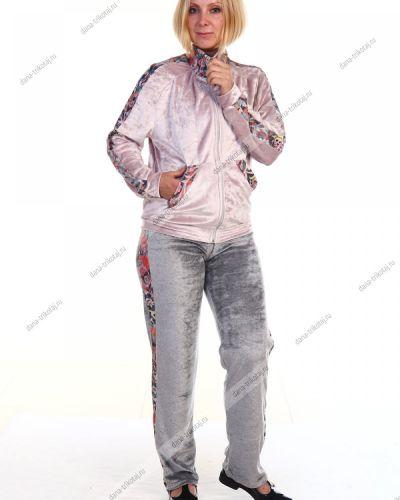 Костюм с воротником-стойка велюровый Грандсток