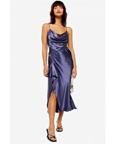 Вечернее платье весеннее фиолетовый Topshop