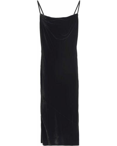 Czarna sukienka z wiskozy Mcq Alexander Mcqueen