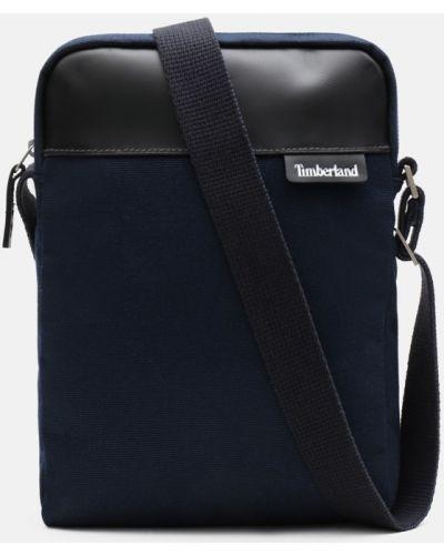Повседневная темно-синяя сумка через плечо из натуральной кожи Timberland