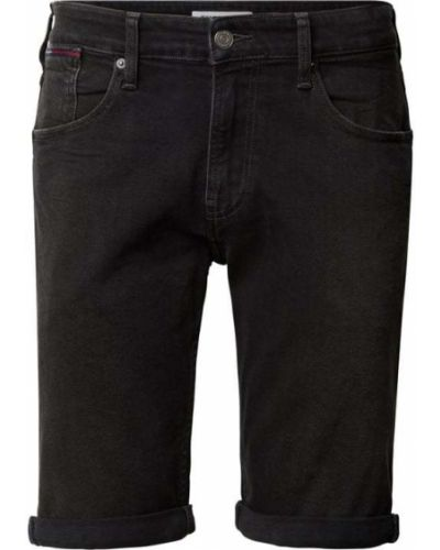 Czarne bermudy jeansowe bawełniane Tommy Jeans