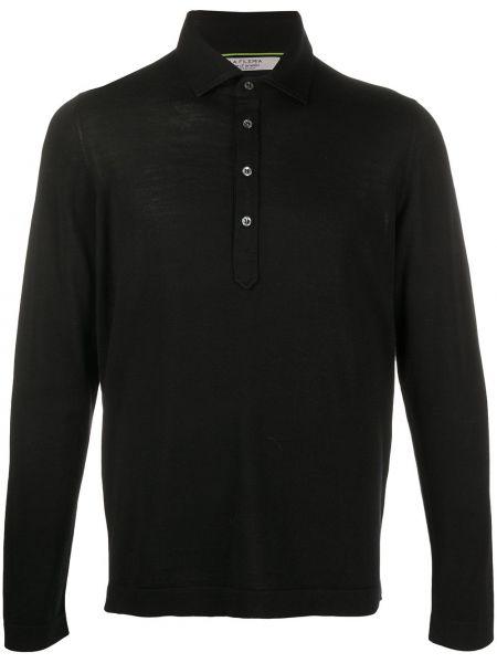 Классическая облегченная черная рубашка на пуговицах La Fileria For D'aniello