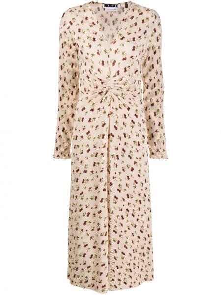 Платье макси с цветочным принтом с V-образным вырезом Rotate