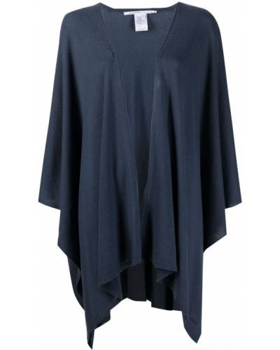 Асимметричное синее кашемировое пальто Agnona