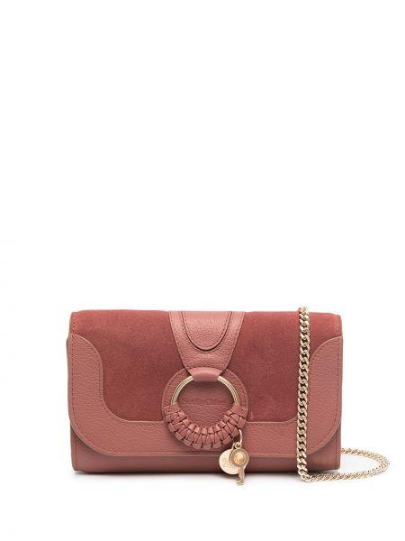 Brązowy portfel skórzany See By Chloe