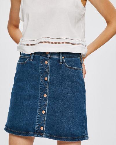 Джинсовая юбка с поясом с карманами Lee