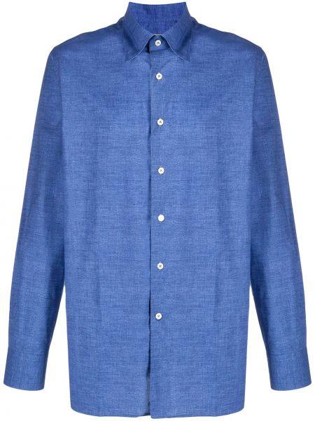 Koszula z długim rękawem klasyczna niebieski Canali