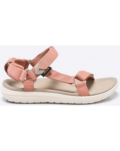 Фиолетовые сандалии текстильные Teva