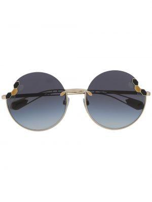 Солнцезащитные очки золотые металлические Bvlgari