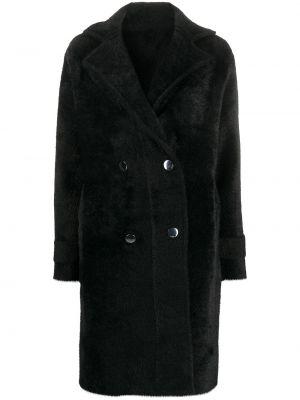 Czarny płaszcz z długimi rękawami Pinko