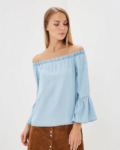 Голубая блузка с открытыми плечами Only
