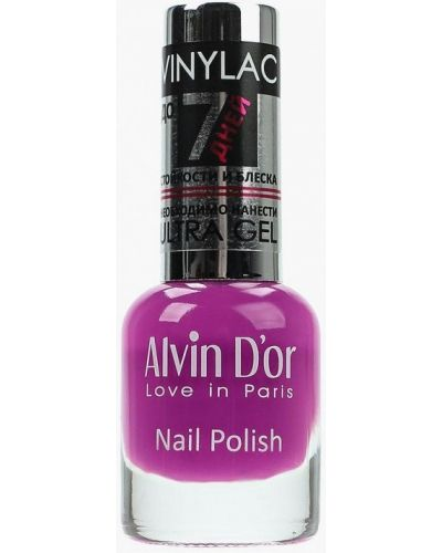 Фиолетовый лак для ногтей Alvin D'or