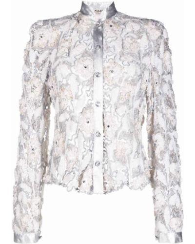 Кружевной белый пиджак с воротником-стойка A.n.g.e.l.o. Vintage Cult