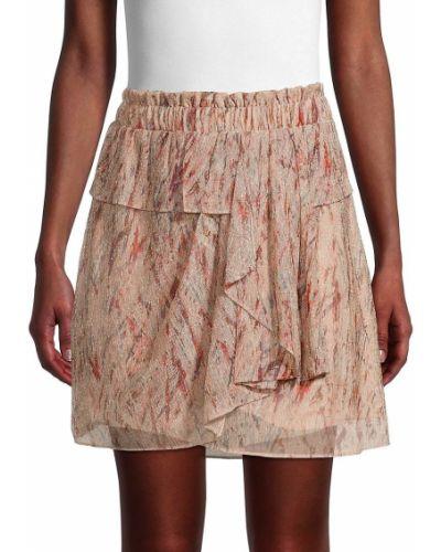 Różowa spódnica maxi kaskadowa Iro