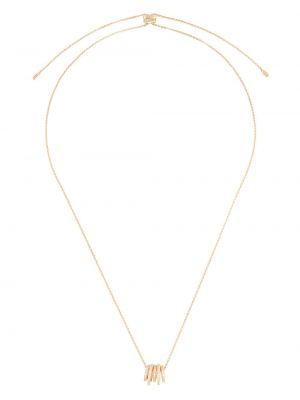 С цирконием серебряное ожерелье с подвесками Apm Monaco