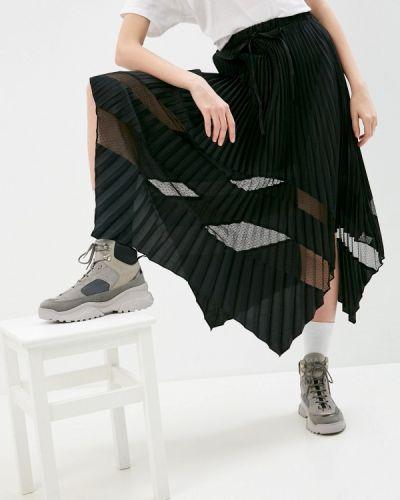 Плиссированная черная юбка The Kooples