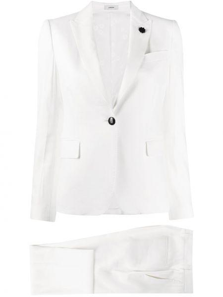 С рукавами костюмный белый костюм Lardini