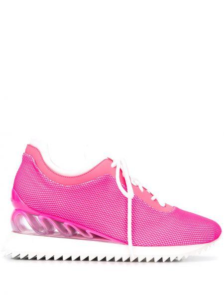 Розовый ажурный топ на шнуровке Le Silla