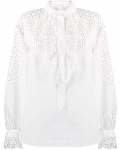Блузка с длинным рукавом с рюшами белая Tsumori Chisato